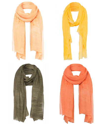More & More Damen Schal Halstuch orange apricot gelb grün