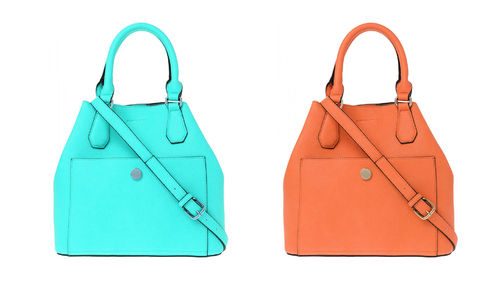 More & More Damen Tasche Handtasche orange blau