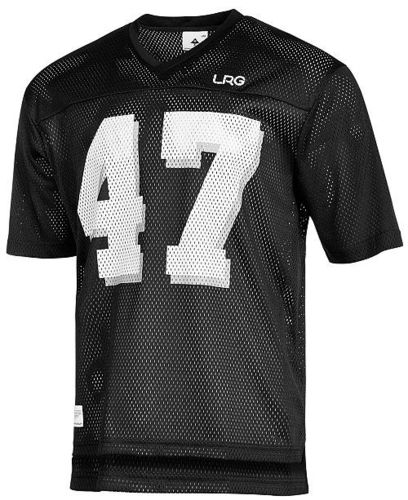 LRG RC Grid Iron Football T-shirt Black NO 47