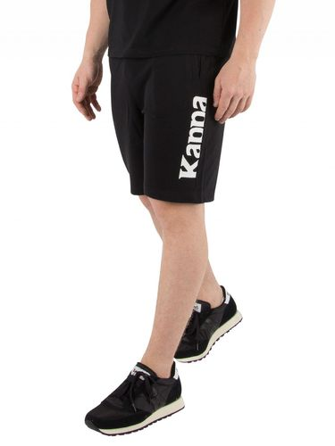 Kappa Authentic Zelat Short Schwarz mit Logo 303WIW0